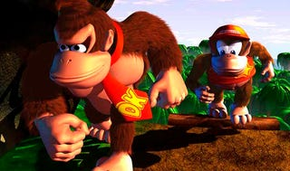Illustration for article titled Corrupted Donkey Kong Country Is Basically A Horror Game