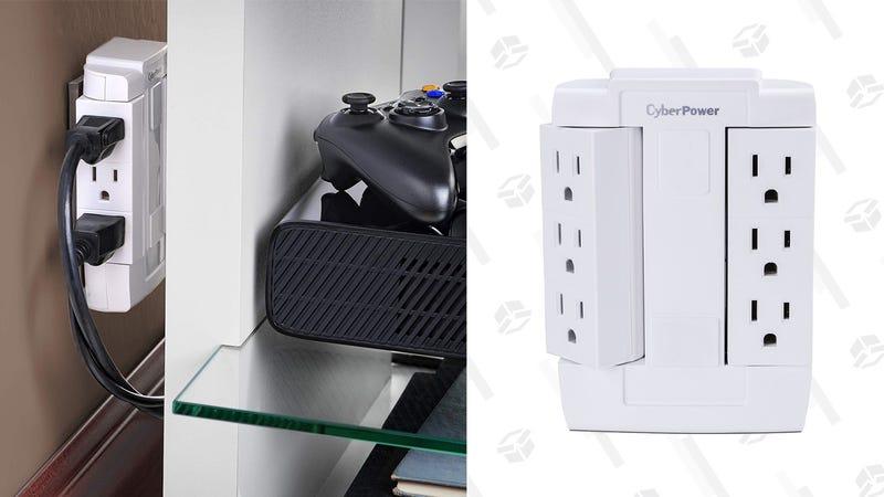 CyberPower Swivel Plug Surge Protector | $5 | Amazon