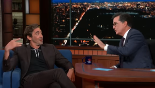 Lee Pace, Stephen Colbert