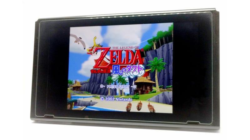 Una Nintendo Switch ejecutando 'The Legend of Zelda: The Wind Waker', presumiblemente en un emulador de GameCube