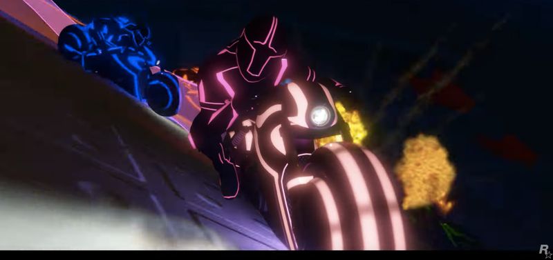 Illustration for article titled Holy Crap, GTA Online's Latest Update Turns It Into Tron