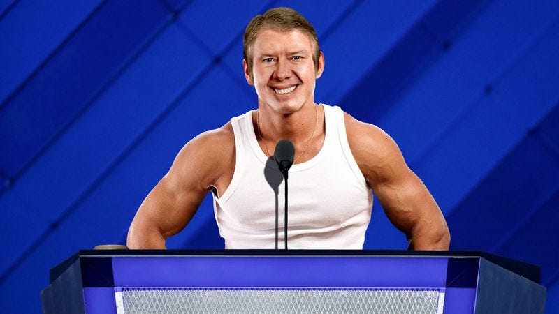 Illustration for article titled Baby-Faced, Muscular Jimmy Carter Tells Democratic Convention The Future Of Medicine Is Bright