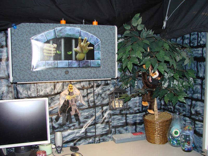Image result for dungeon looking halloween cubicles