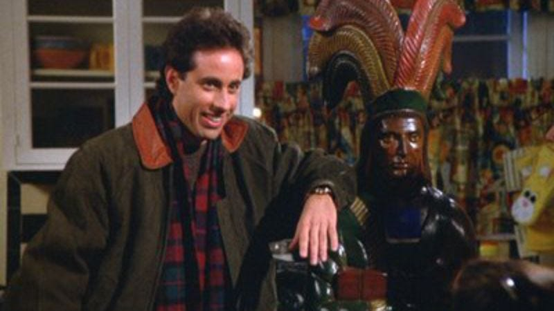 "Illustration for article titled Seinfeld: ""The Masseuse""/""The Cigar Store Indian"""