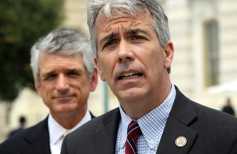 Now-former  Rep. Joe Walsh (right) with now-former Rep. Scott Rigell on May 16, 2012, on Capitol Hill in Washington, D.C. (Alex Wong/Getty Images)