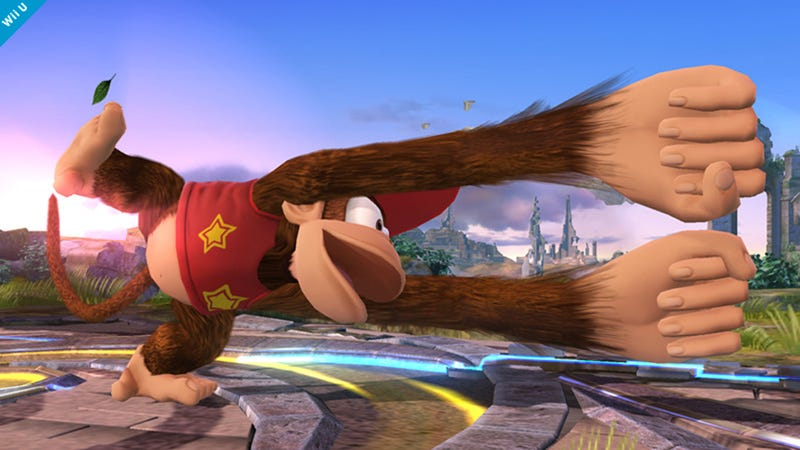 Illustration for article titled Diddy Kong Joins The Battle In Super Smash Bros. Wii U