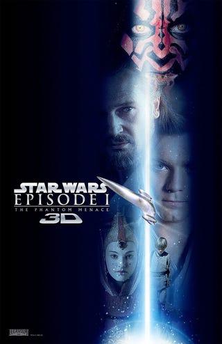 Illustration for article titled Star Wars Phantom Menace 3D Posters