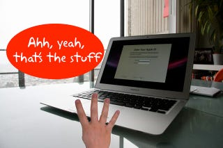 Illustration for article titled Enable Four-Finger Gestures on Original MacBook Air with Dangerous Scary Hack