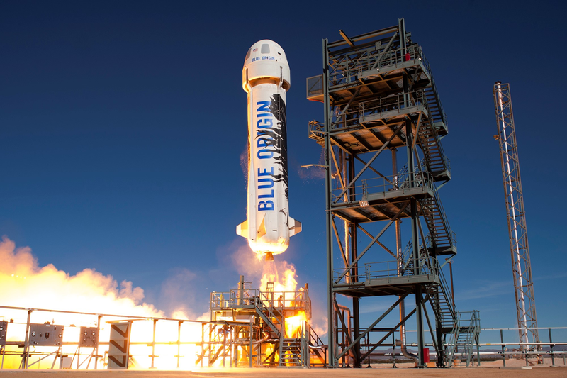Illustration for article titled Blue Origin Successfully Launched and Landed Its Rocket for the Third Time