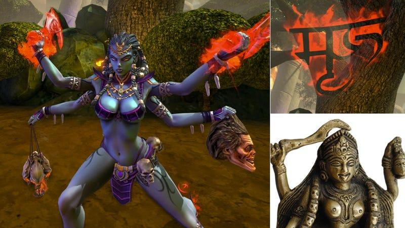 """Illustration for article titled Hindu Leader Says Controlling Goddess in Online Game Is """"Denigration"""""""