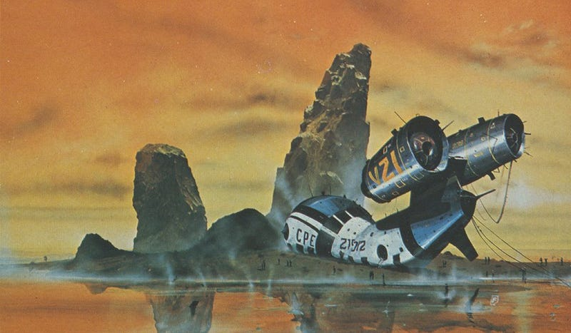 Illustration for article titled Mind-Blowing Spaceships from 1970s British Paperbacks