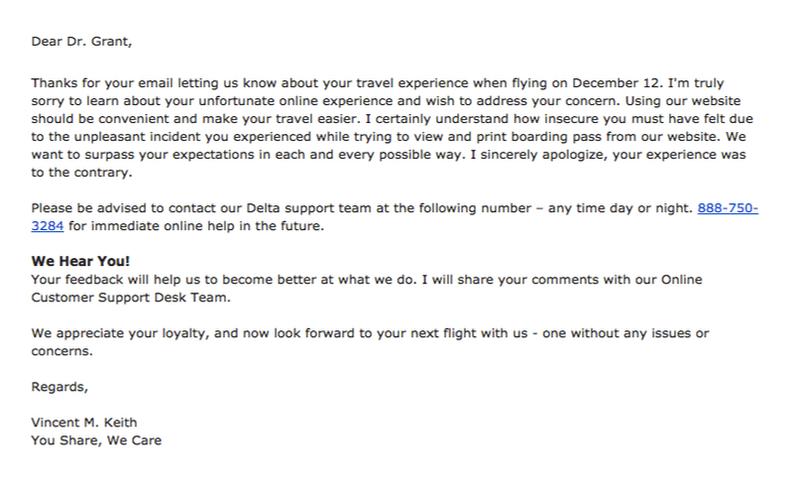 Delta seat assignments