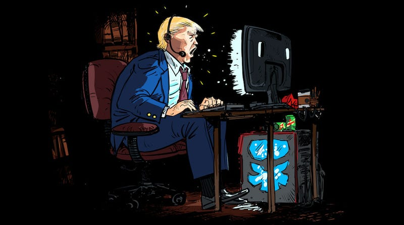 Illustration for article titled Political Ads Show Donald Trump As A Bad Overwatch Player