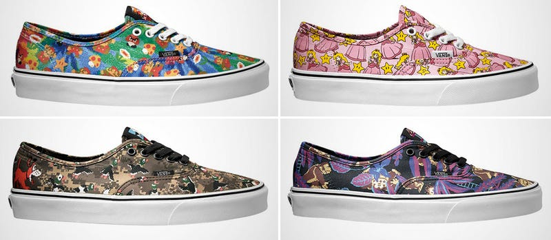 vans nintendo shoes. adding to a long list of pop culture collaborations, which has yielded fare like star wars- and disney-themed kicks, vans is now working with nintendo on shoes x