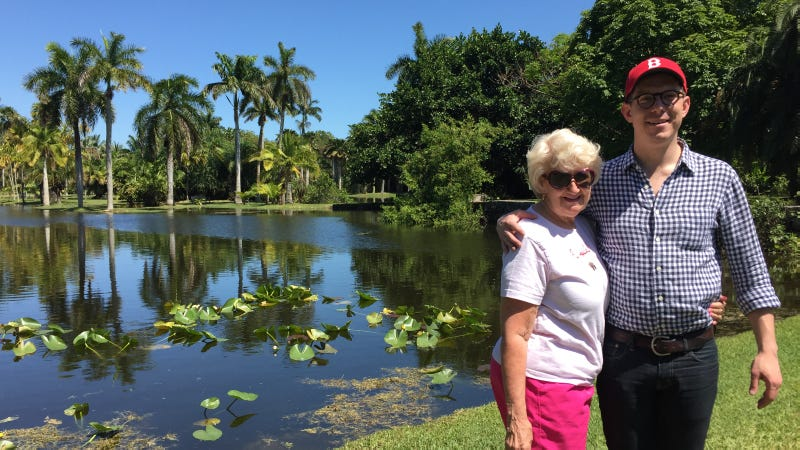 My mom and I enjoying a swamp in Florida. (Photo: Gizmodo)