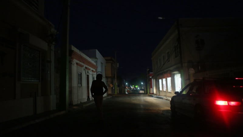 The darkness just weeks after Hurricane Maria hit last year.