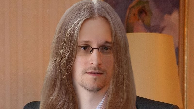 Illustration for article titled This Artist Boldly Reimagined Edward Snowden With Long Hair