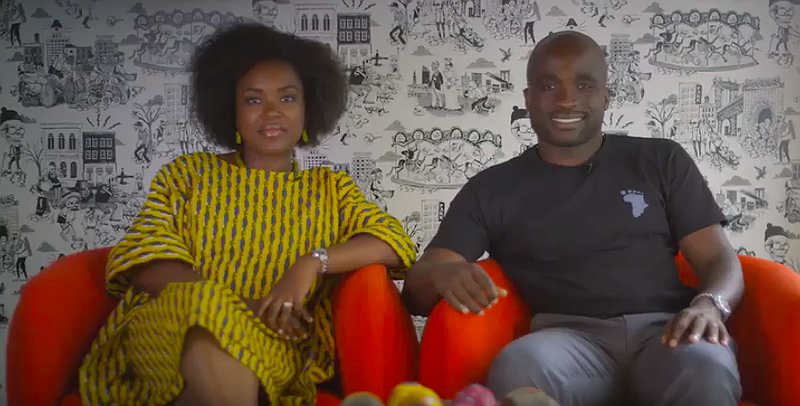 Taffi and J.G. Ayodele, co-creators of Thando's The Root TV screenshot