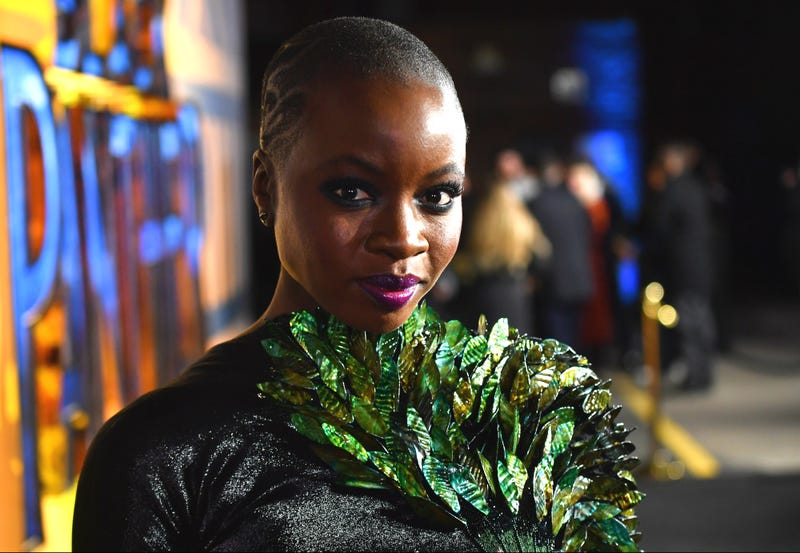 Danai Gurira at the European premiere of Black Panther on Feb. 8, 2018, in London (Gareth Cattermole/Getty Images for Disney)