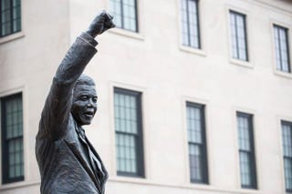 A statue of Nelson Mandela outside the South African Embassy on Dec. 6, 2013, in Washington, D.C.Pete Marovich/Getty Images