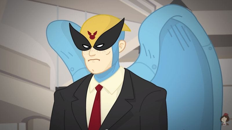 Illustration for article titled At last, the Birdman/Harvey Birdman crossover the world has been needing