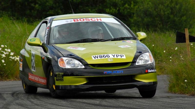 Illustration for article titled Hybrid rally car banned for being too fast