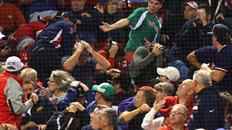 Illustration for article titled Fan Struck In Forehead By Flying Bat At Red Sox Game, Stretchered Off