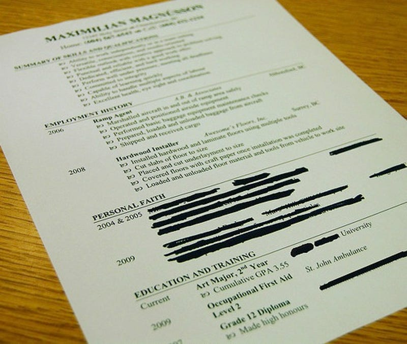 what resume items can kill my chances at getting a new job