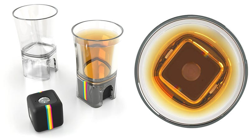 Illustration for article titled Polaroid's Action Camera Now Has a Shot Glass Adapter For Documenting Your Drinks