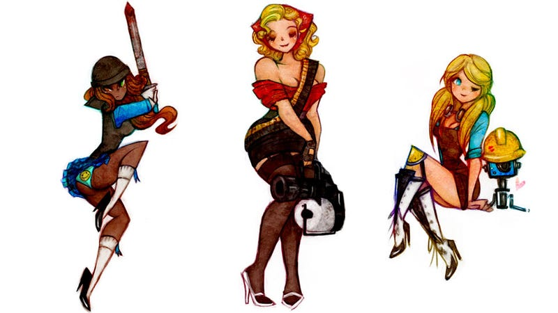 Illustration for article titled The Ladies of Team Fortress 2