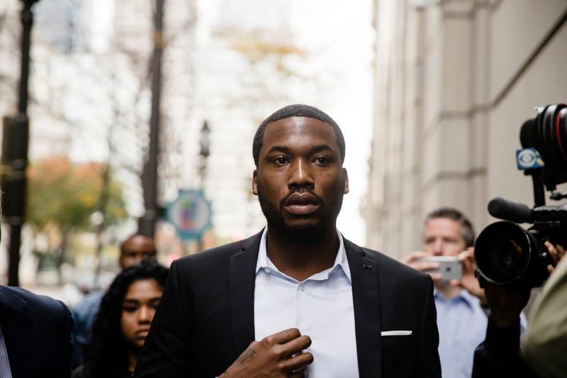 Rapper Meek Mill arrives at the criminal-justice center in Philadelphia on Nov. 6, 2017. (Matt Rourke/AP Images)
