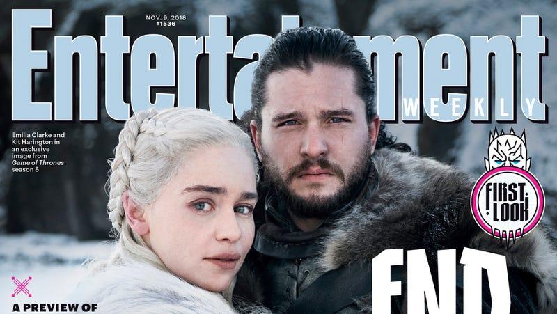 Illustration for article titled Jon y Daenerys se abrazan en la primera foto oficial de la última temporada de Juego de Tronos