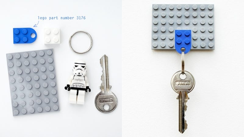 Illustration for article titled How to Make an Awesome Key Holder Out of Lego