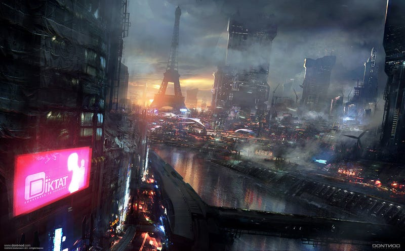 Illustration for article titled Absolutely Stunning Concept Art of Paris 2084