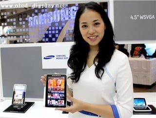 Illustration for article titled Super AMOLED Screen'd Galaxy Tab Shown Off by Samsung