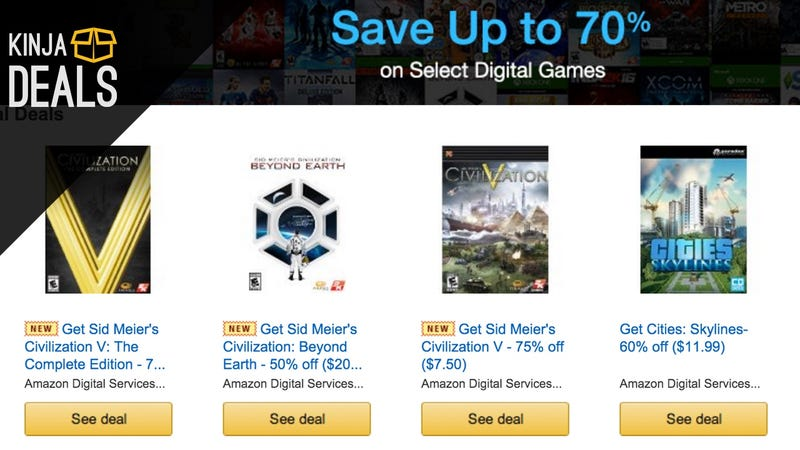 Illustration for article titled Amazon's Year-End Digital Games Sale Includes Console Titles Too