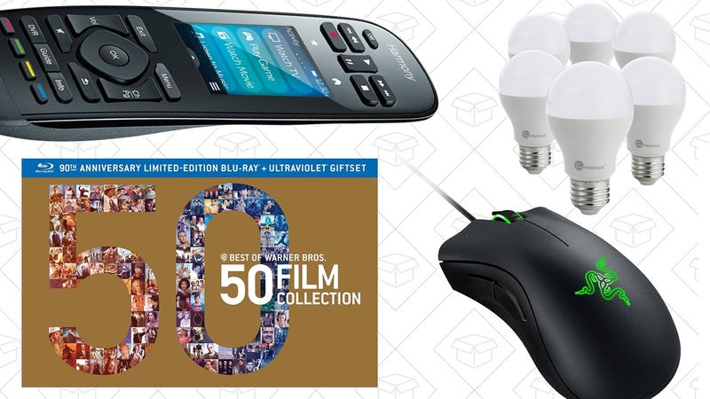Illustration for article titled Today's Best Deals: Harmony Remotes, Warner Bros. Box Sets, Razer DeathAdder, and More