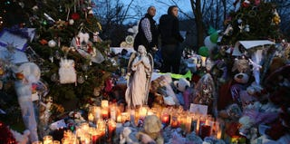 A shrine in Newtown, Conn. (Getty Images)