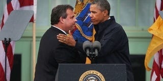 New Jersey Gov. Chris Christie and President Barack Obama at the Jersey Shore after Sandy (Spencer Platt/Getty Images)