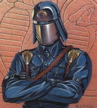 Illustration for article titled The Cobra Commander Talks About His Mangled Face Time
