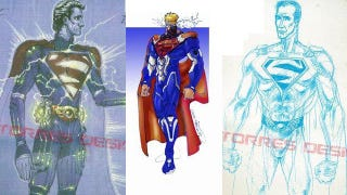 Illustration for article titled Toy concept art for Tim Burton's scrapped Superman movie is like design Kryptonite
