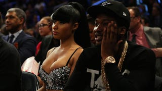 Illustration for article titled Nicki Minaj Introduces Meek Mill as 'My Baby Father'