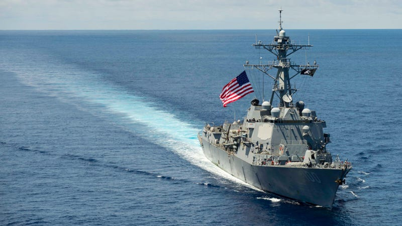The American Arleigh Burke-class destroyer USS Kidd transits the South China Sea in July 2014. Photo credit: US Navy