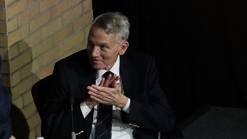 William Happer during the fourth meeting of the National Space Council at National Defense University at Fort McNair on October 23, 2018