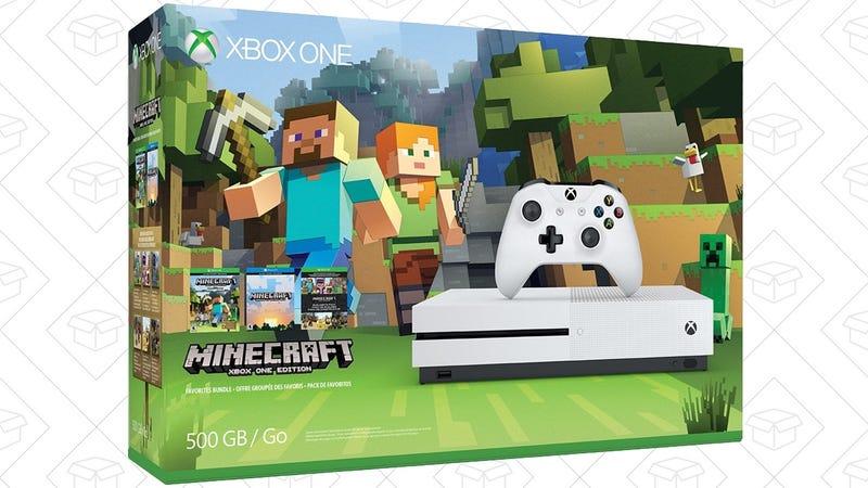 Xbox One S 500GB Minecraft Bundle, $280