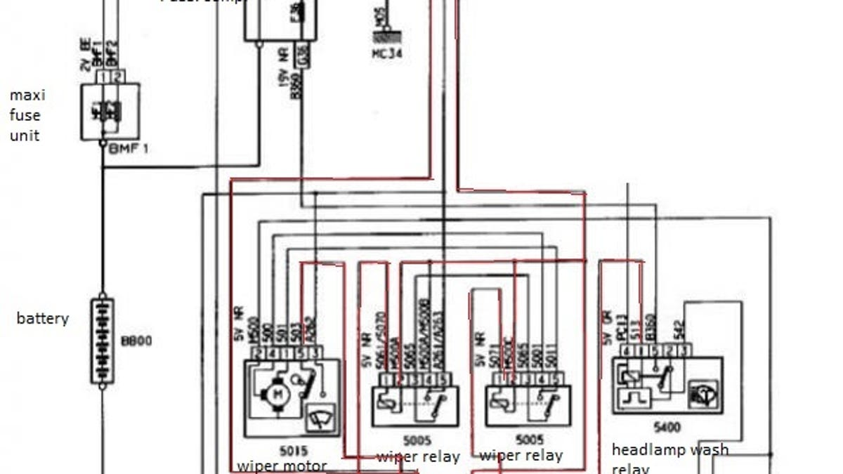 Peugeot wiper motor wiring diagram library