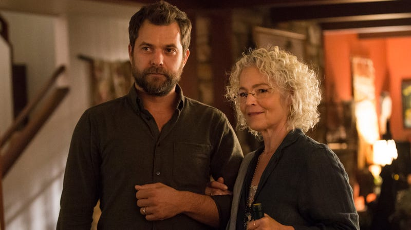 Joshua Jackson as Cole and Amy Irving as Nan in The Affair