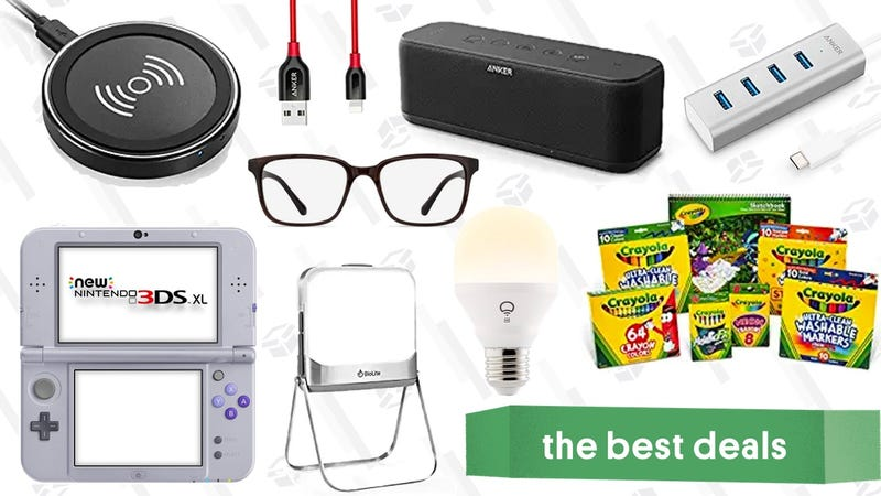 Illustration for article titled Monday's Best Deals: Anker Sale, Smart Home Gadgets, Crayola Supplies, and More