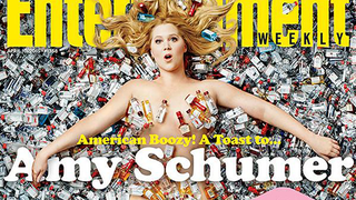 Illustration for article titled Amy Schumer Is Nude and Covered In Trash On the Cover of EW