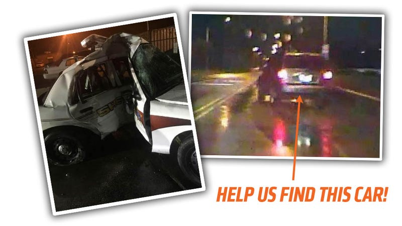 Illustration for article titled Help Us ID The SUV That Caused A Cop To Be Seriously Injured In A Wreck